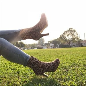 Shoes - Leopard Print Boots / Booties
